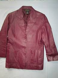wine color leather jacket blazer style