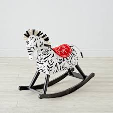 Zebra Rocking Horse For Toddlers Reviews Crate And Barrel