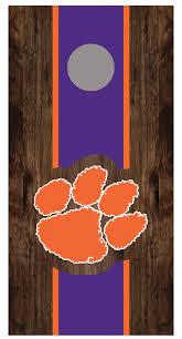 Clemson Paw Cornhole Board Decal Wrap Let S Print Big