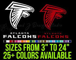 Falcons Car Decal Etsy