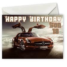 Personalised Mercedes Benz Birthday Card Birthday Cards Happy