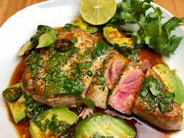 Pan Seared Tuna with Avocado and Soy ...