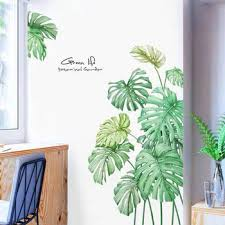 Diy 108 78cm Tropical Plants Palm Leaves Wall Sticker Decorative Art Mural Stickers For Living Room Door Decoration Vinyl Decals Leather Bag