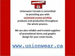 canadian union screen printing why