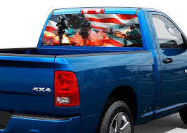 Product American Army Strong War Soldier Rear Window Graphic Decal Sticker Truck Suv