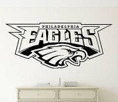 Philadelphia Eagles Wall Decal Nfl Vinyl Sticker Football Logo Emblem Home Decor Ebay