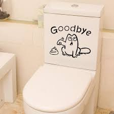 Cartoons Removable Goodbye Cats Face Mural Vinyl Toilet Seat Sticker Wall Decal Home Garden Cat Children S Bedroom Decor Decals Stickers Vinyl Art