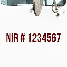 Nir Number Truck Decal Quebec Truck Door Decals