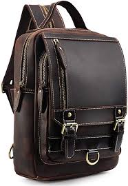 tiding men s genuine leather backpack