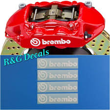 Amazon Com R G Brembo High Temperature Brake Caliper Decal Sticker Set Of 4 Decals White Arts Crafts Sewing