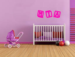 Mia Baby Blocks Girls Name Interior Room Wall Vinyl Decal Etsy