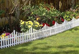 mini white garden picket fence panels