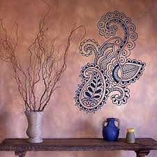 Amazon Com Creativewalldecals Wall Decal Vinyl Sticker Art Mehndi Henna Indian Pattern Beauty Folklore V376 Home Kitchen