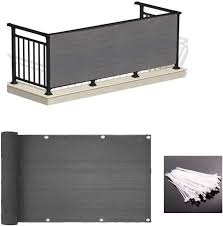 Amazon Com Love Story 3 X 10 Charcoal Balcony Deck Privacy Screen Fence Cover Uv Protection Weather Resistant 3 Ft Height Heavy Duty Shield 90 Garden Outdoor
