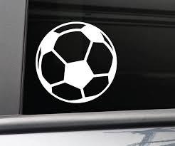 Amazon Com Soccer Ball Vinyl Decal Laptop Car Truck Bumper Window Sticker White Automotive