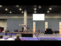 JRF Isabelle West, Buffalo Grove | L10 Beam 2018 JO Nationals - YouTube
