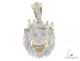 10k yellow gold diamond lion king crown