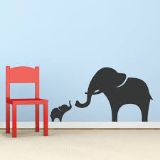 Wallums Wall Decor Mama And Baby Elephant Wall Decal Reviews Wayfair