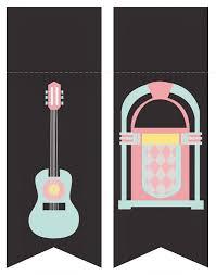 Mini Kit De Los Anos 50 Para Imprimir Gratis Fiestas Tematicas