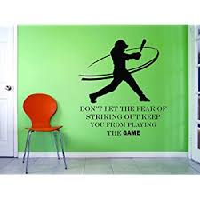 Amazon Com Softball Wall Decals For Girls Rooms Girl Inspirational Quotes Motivational Quote Room Decoration Women Sport Athlete Decor Vinyl Stickers Teens Women Motivation Decor Jennie Finch Size 20x20 Inch Baby