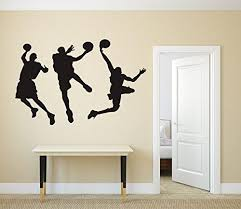 Anber Slam Dunk Silhouette Wall Decal Removable Basketball Player Stic Funstyling Com