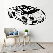 Wall Decal Kids Room Fashion Sport Racing Car Vinyl Art Sticker Home Accessories Bedroom Living Room Decoration Removable Ww 170 Leather Bag