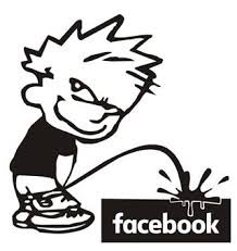 Boy Piss On Facebook Decal Sticker