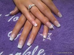 sculpted gel nails by atouchofsparkle