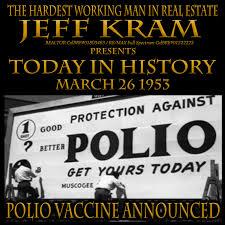 Today in History March 26 1953 Salk announces polio vaccine