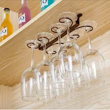 wine glass rack hanging under cabinet