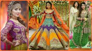 latest mehndi dress design in pakistan