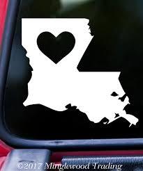 Louisiana Heart State Vinyl Decal Sticker 6 X 5 5 Love La Minglewood Trading