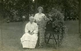 Hazel Davis and Kitty Smith, Athens State Hospital grounds, circa 1912 -  Athens Mental Health Center Collection - Ohio University Libraries -  Digital Archival Collections