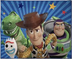 Amazon Com Jay Franco Disney Pixar Toy Story The Gang Kids Room Rug Large Home Area Rug Measures 4 X 5 Feet Features Woody Buzz Lightyear Offical Disney Pixar Product