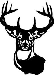 Large Typical Whitetail Deer Buck 10 Point Anter Car Wall Decal Sticker