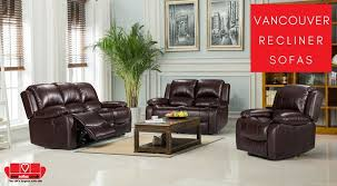 comfortable vancouver leather recliner