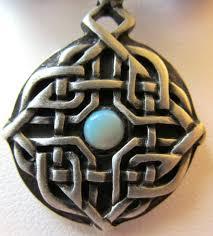 pewter celtic knot pendant necklace
