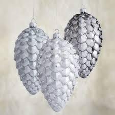 small glitter glass pinecone ornaments