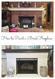how to paint a brick fireplace with
