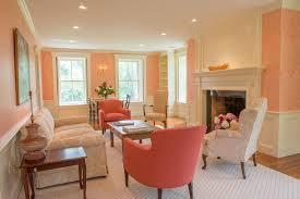peach color to decorate amazing interiors