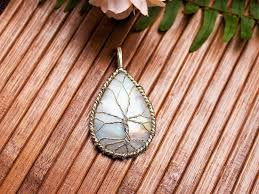 moonstone pendant sterling silver wire