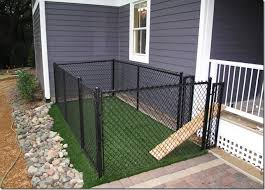Love This Perfect For Giving Your Babies Some Space Not Only Shelter On A Porch But To Be Able To Go Sun You Can Ma Backyard Dog Area Dog Area Dog Houses