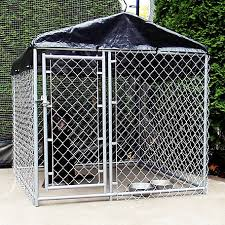 American Kennel Club 5 Ft X 5 Ft X 4 Ft High Galvanized Chainlink Dog Kennel With Roof And Waterproof Cover Cl 70102 At Tractor Supply Co