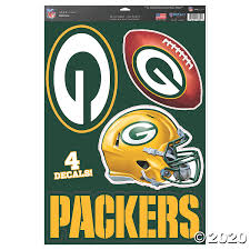 Nfl Green Bay Packers Window Decals Oriental Trading