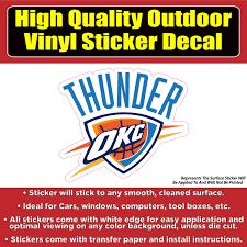 Oklahoma City Thunder Basketball Vinyl Car Window Laptop Bumper Sticke Colorado Sticker
