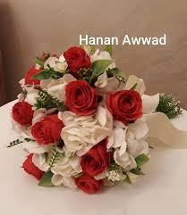جديد اليوم مسكة ورد الجوري الاحمر Hanan Awwad Bride