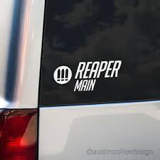 Reaper Main Vinyl Decal Car Truck Window Laptop Sticker Overwatch Esports Meme Ebay