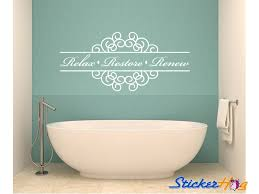 Relax Restore Renew Bathroom Vinyl Wall Decal 1 Graphics Home Decor