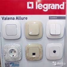 Switches, Sockets and Plugs of the Legrand Brand
