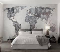 3d Gray World Map Wg689 Wall Murals Aj Wallpaper